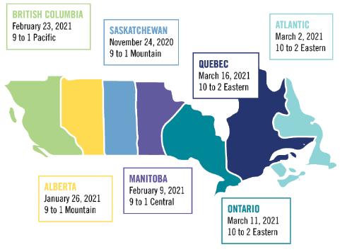 喂养你的未来加拿大事件地图